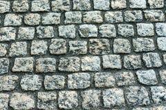 Конец дизайна улицы булыжника вверх Стоковые Фото