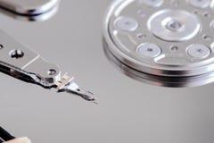 Конец дисковода жесткого диска компьютера вверх Стоковые Изображения RF