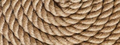 Конец картины округленной веревочки вверх Стоковое Изображение RF