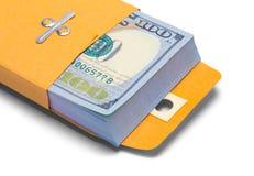 Конец конверта денег вверх Стоковые Изображения