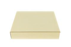конец коробки коробки предпосылки вверх по белизне Стоковая Фотография