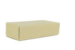 конец коробки коробки предпосылки вверх по белизне Стоковые Изображения RF