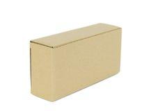 конец коробки коробки предпосылки вверх по белизне Стоковые Фотографии RF