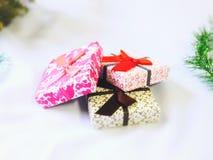 Конец коробки подарков вверх Стоковое Фото