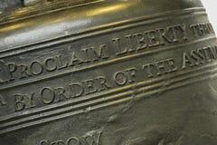 Конец колокола свободы вверх Стоковое Изображение RF