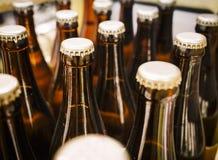 Конец крышки пивной бутылки вверх Стоковые Фото