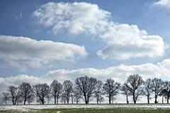 Конец ландшафта зимы Стоковые Фотографии RF