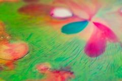 Конец макроса вверх мыла краски масла другого цвета красочный acrylic Концепция современного искусства Отлично, творческий стоковое фото rf