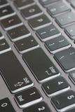 Конец макроса клавиатуры ноутбука вверх по увядать, который нужно войти в стоковые изображения