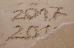 Конец 2016, начинать 2017 Стоковое фото RF