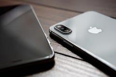 Конец нового smartphone Iphone x модельный вверх Стоковое Изображение