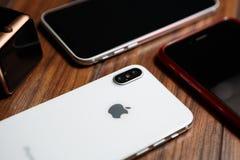 Конец нового smartphone Iphone x модельный вверх Стоковая Фотография RF