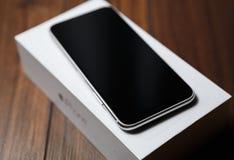 Конец нового smartphone Iphone x модельный вверх Стоковые Фото