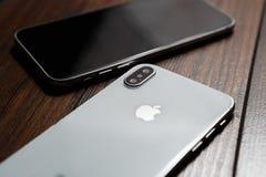Конец нового smartphone Iphone x модельный вверх Стоковые Фотографии RF
