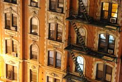 конец новый поднимающий вверх york города жилого дома стоковые изображения