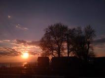 Конец дня в деревне Стоковые Фотографии RF