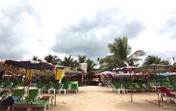 Конец дня пляжа Стоковое Изображение