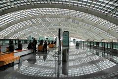 конец Пекин авиапорта вверх по дорожке Стоковое фото RF
