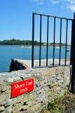 Конец побережья Strangford следа Стоковая Фотография RF