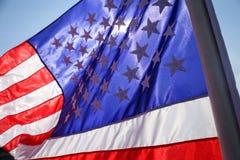 Конец поднимающий вверх и Соединенные Штаты ameriaca сигнализируют Стоковое Изображение RF