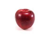 конец предпосылки яблок один красный цвет вверх по белизне стоковое изображение rf