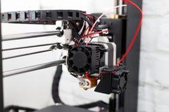 конец принтера 3d вверх, концепция печати 3D Стоковое Изображение