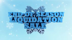Конец продажи ликвидирования сезона зимы - выдвиженческие маркетинг и реклама
