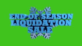 Конец продажи ликвидирования сезона зимы - поддержки канала альфы