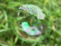 Конец пузыря мыла вверх Стоковое Фото