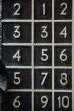 Конец пусковой площадки шкалы сотового телефона вверх стоковое изображение