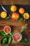 Конец плодоовощ апельсина крови вверх на деревянном столе Стоковая Фотография RF
