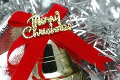 конец рождества колокола вверх Стоковая Фотография RF