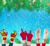 конец рождества предпосылки вверх стоковая фотография