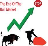 Конец рынка тенденцией к повышению курсов Стоковые Изображения