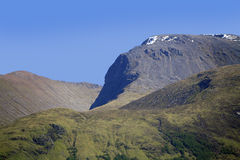 Конец саммита Бен Невиса вверх, Lochaber, Шотландия, Великобритания Стоковая Фотография RF