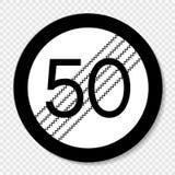 Конец символа знака ограничения на прозрачной предпосылке иллюстрация штока