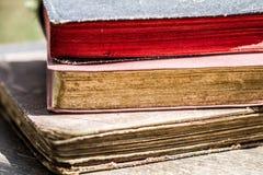 Конец старой книги вверх Стоковое Изображение RF