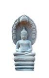 Конец статуи Будды вверх изолированный против белой предпосылки стоковые изображения rf