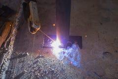 Конец стальной заварки вверх Стоковое Изображение RF