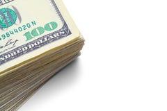 Конец стога денег вверх Стоковые Изображения