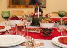 Конец таблицы рождества вверх Стоковое Фото