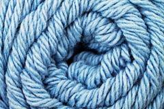 Конец текстуры пряжи сини младенца вверх Стоковое Изображение
