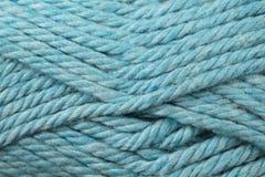 Конец текстуры пряжи сини младенца вверх Стоковое Фото
