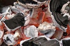 конец угля распадается нагрюет вверх Стоковое Изображение
