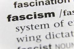 Конец фашизма слова вверх стоковые изображения rf