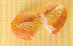 конец хлеба свертывает вверх Стоковые Фотографии RF