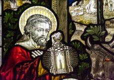 Конец цветного стекла церков Сент-Эндрюса вверх по f Стоковое фото RF