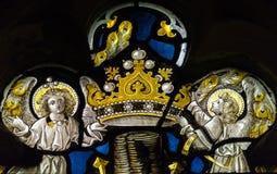 Конец цветного стекла церков Сент-Эндрюса вверх по h Стоковое Фото