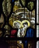 Конец цветного стекла церков Сент-Эндрюса вверх по k Стоковая Фотография RF