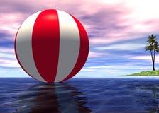 конец шарика striped вверх Стоковое Изображение RF